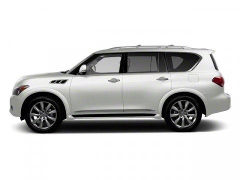 2012 Infiniti QX56 8-passenger Moonlight White V8 56L Automatic 30732 miles  Rear Wheel Drive