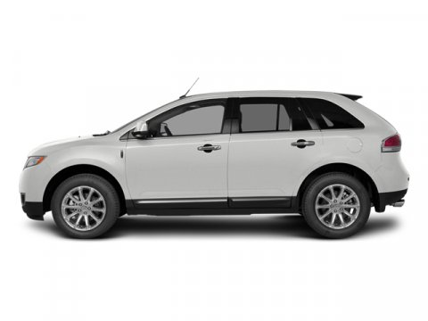2014 Lincoln MKX White Platinum Metallic Tri-CoatCw Prem Leather Buckets W Piping Charcoal Black