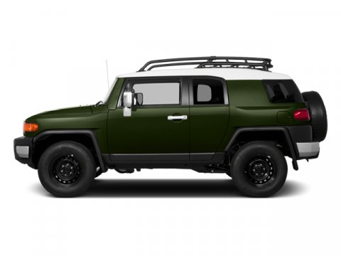 2014 Toyota FJ Cruiser Army GreenSTEEL GRAY V6 40 L Automatic 5 miles FREE CAR WASHES for Life