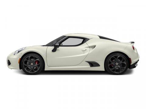 2015 Alfa Romeo 4C L Madreperla White Tri-CoatRED LEATHER TRI V4 17 L Automatic 10 miles Buil