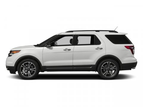 2015 Ford Explorer Sport White Platinum Metallic Tri-CoatChar Black Sienna Interior V6 35 L Auto