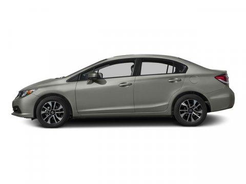 2015 Honda Civic Sedan EX Alabaster Silver MetallicBlack V4 18 L Variable 0 miles  Front Whee
