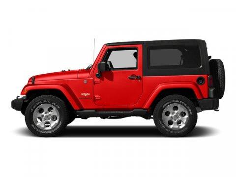 2015 Jeep Wrangler Sahara Firecracker Red Clear CoatBlack V6 36 L Automatic 0 miles  BLACK 3-P