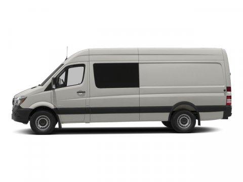2015 Mercedes Sprinter Crew Van 2500 170 Pearl Silver MetallicLeatherette Bla V6 30 L Automatic