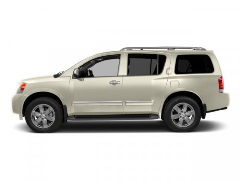 2015 Nissan Armada SV Pearl White V8 56 L Automatic 0 miles Built on a muscular and fully box