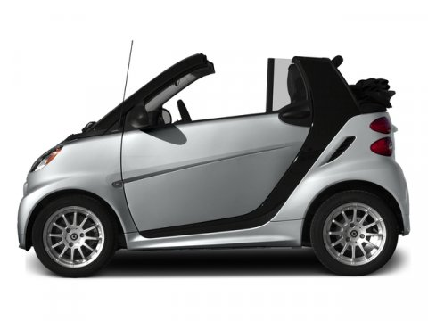 2015 smart fortwo passion cabriolet Silver MetallicBlack V3 10 L Automatic 3 miles Stop by Sma