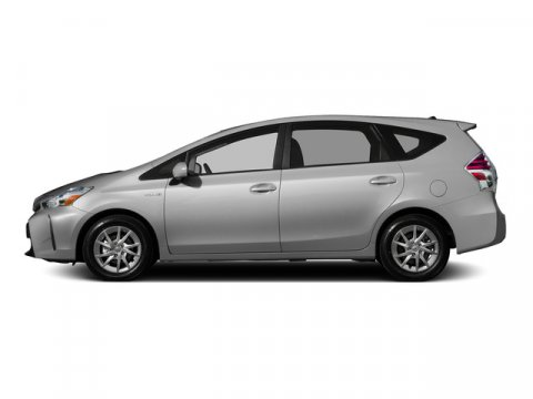 2015 Toyota Prius v Three Classic Silver MetallicBLACK V4 18 L Variable 5 miles FREE CAR WASH
