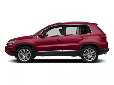 2015 Volkswagen Tiguan S Wild Cherry MetallicBlack V4 20 L Automatic 0 miles  Turbocharged  F