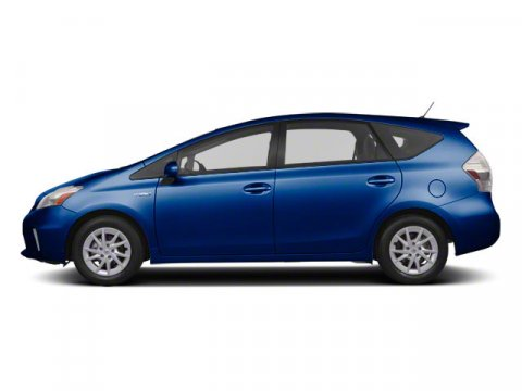 2012 Toyota Prius v Two Blue Ribbon Metallic V4 18L Variable 58830 miles  Color-keyed folding