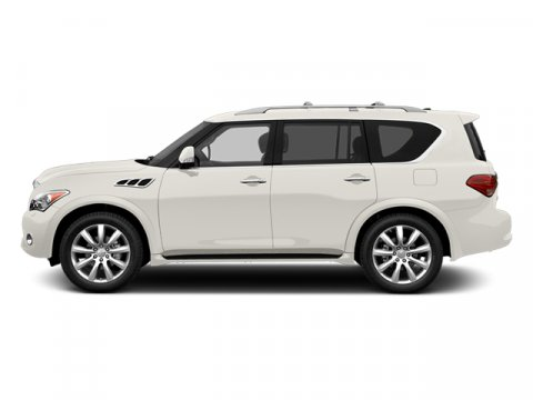 2013 Infiniti QX56 Moonlight White V8 56L Automatic 0 miles  Rear Wheel Drive  Keyless Start