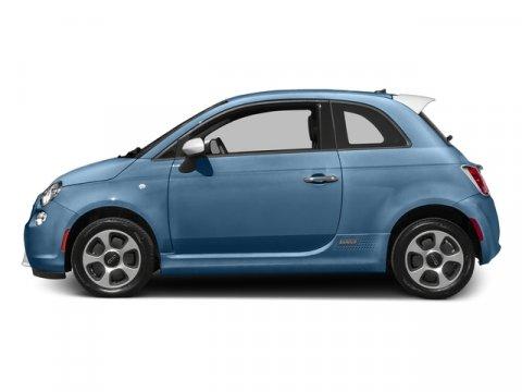2016 FIAT 500e L Celeste Blu Retro Light BlueLEATHERETTE V 00 Automatic 10 miles Because Fi