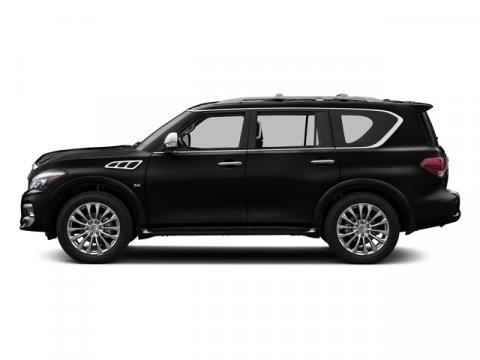 2016 Infiniti QX80 Black ObsidianWheat V8 56 L Automatic 7 miles  B92 ROOF RAIL CROSSBARS