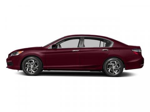 2017 Honda Accord Sedan LX Basque Red Pearl IIIvory V4 24 L Variable 0 miles  Front Wheel Dri