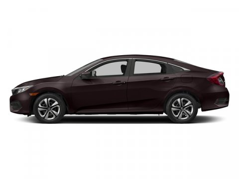 2017 Honda Civic Sedan LX Burgundy Night PearlIVORY CLOTH V4 20 L Variable 7 miles  Front Whe