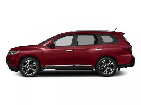 2017 Nissan Pathfinder Platinum Cayenne Red MetallicCharcoal V6 35 L Variable 0 miles  Front