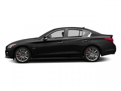 2016 INFINITI Q50 30t Red Sport 400 Black ObsidianGraphite V6 30 L Automatic 5 miles Boasts