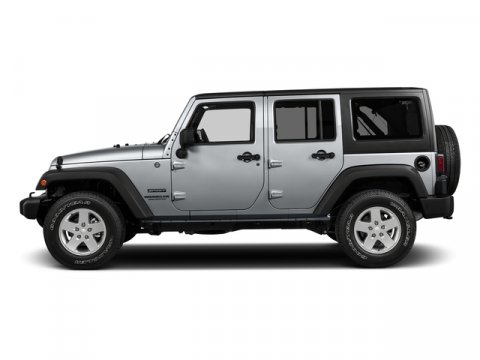 2017 Jeep Wrangler Unlimited Billet Silver Metallic ClearcoatBLK CLTH WHD RST V6 36 L  0 mile