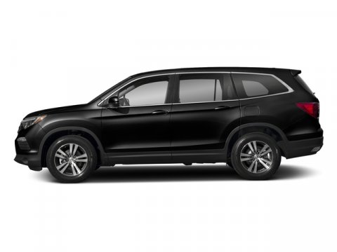 2018 Honda Pilot EX-L Crystal Black PearlGray V6 35 L Automatic 7 miles  GRAY LEATHER-TRIMMED