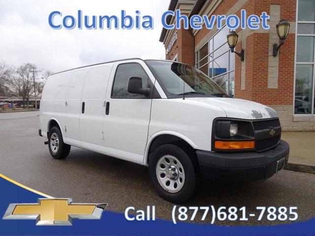 """2011 Chevrolet Express Cargo Van RWD 1500 135"""" SUMMIT WHITE"""