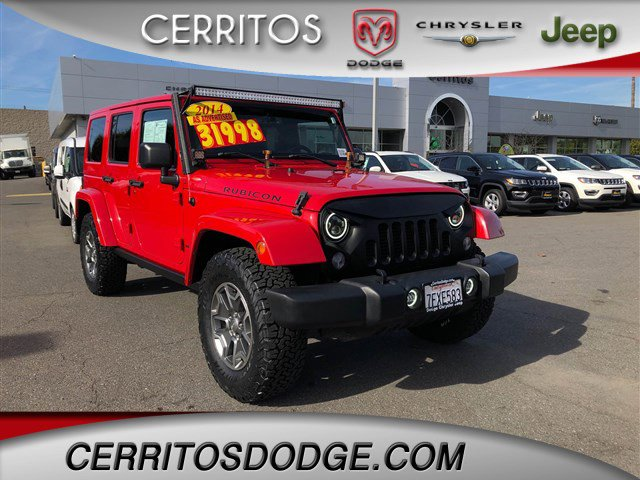 Certified 2014 Jeep Wrangler Unlimited 4WD 4dr Rubicon FLAME RE