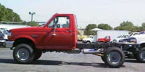 "1997 Ford F-350 Chassis Cab Reg Cab 137"" WB, 60.0"" CA DRW RED"