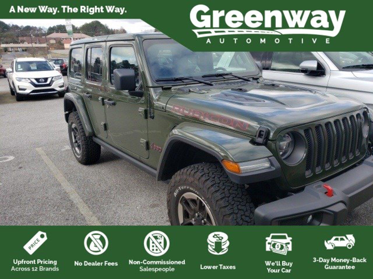 2020 Jeep Wrangler Unlimited Rubicon 1c4hjxfg8lw334968 Greenway Automotive Orlando Fl