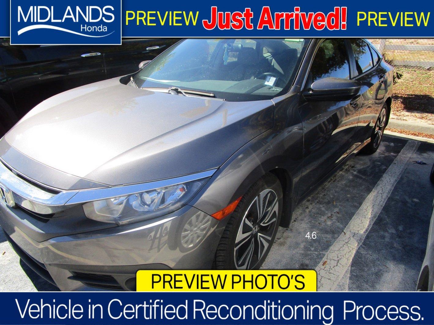 2018 Honda Civic Sedan EX-T EX-T CVT Intercooled Turbo Regular Unleaded I-4 1.5 L/91 [14]