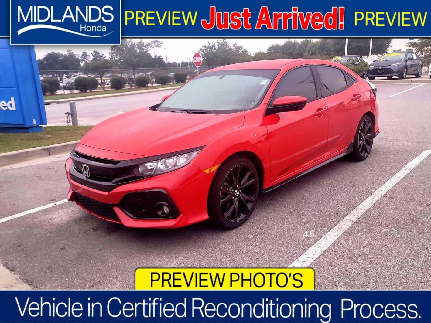 2018 Honda Civic Hatchback Sport Sport Manual Intercooled Turbo Premium Unleaded I-4 1.5 L/91 [12]