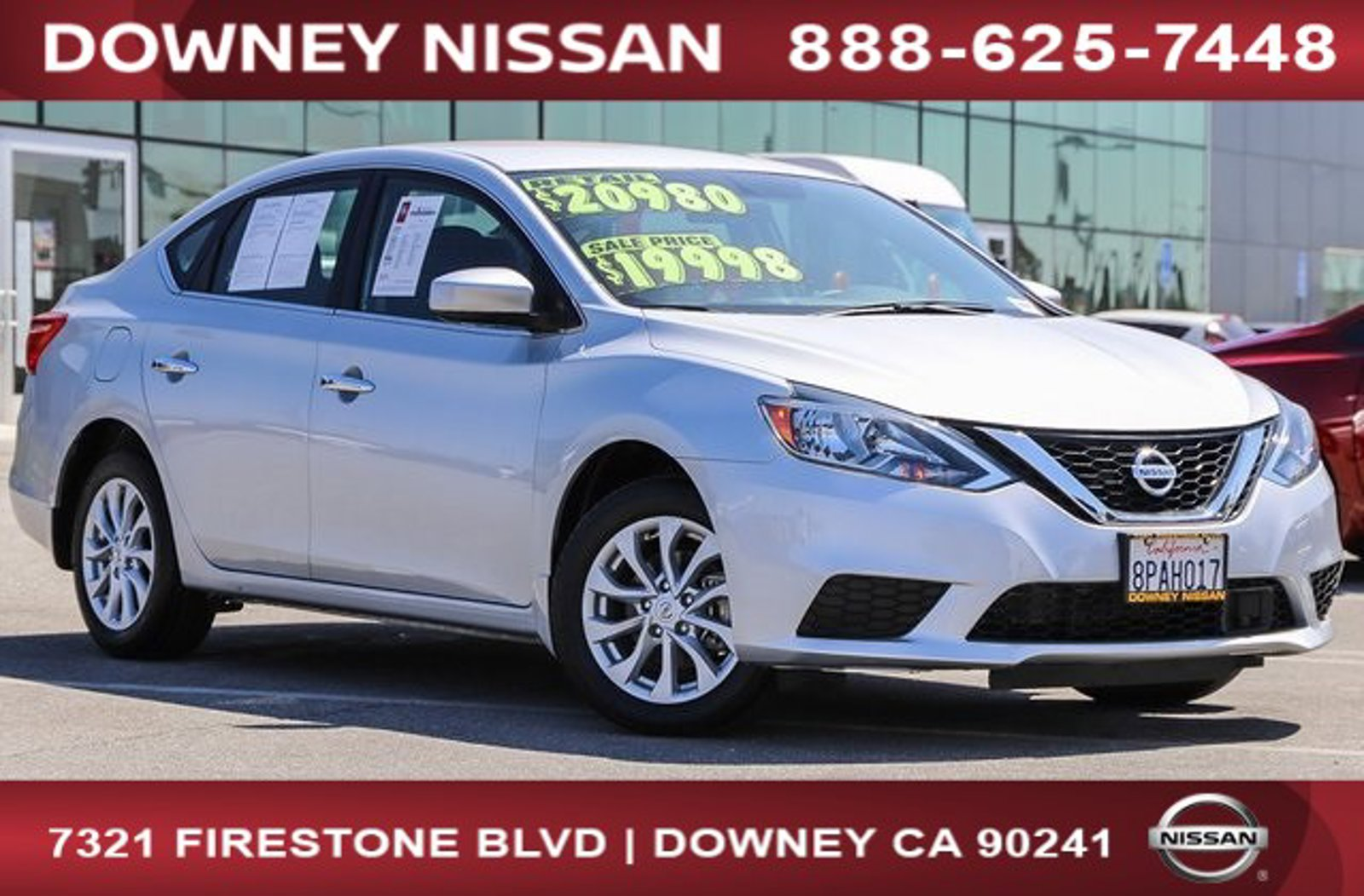 2019 Nissan Sentra SV SV CVT Regular Unleaded I-4 1.8 L/110 [23]