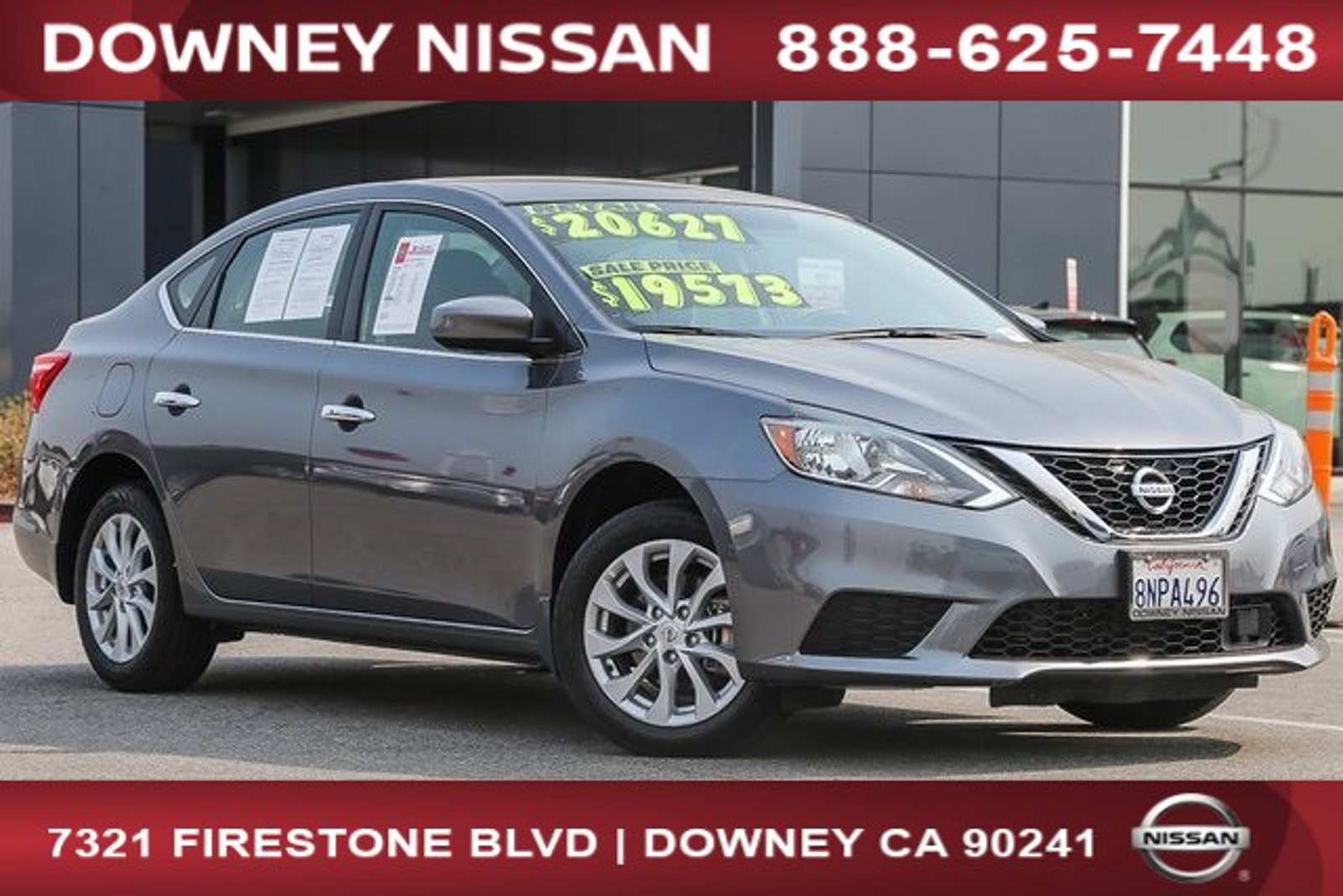 2019 Nissan Sentra SV SV CVT Regular Unleaded I-4 1.8 L/110 [18]