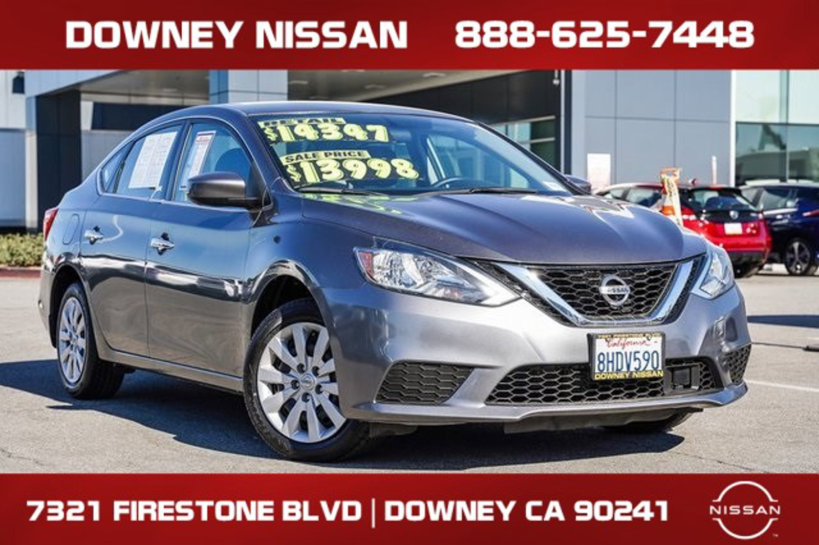 2019 Nissan Sentra S S CVT Regular Unleaded I-4 1.8 L/110 [1]