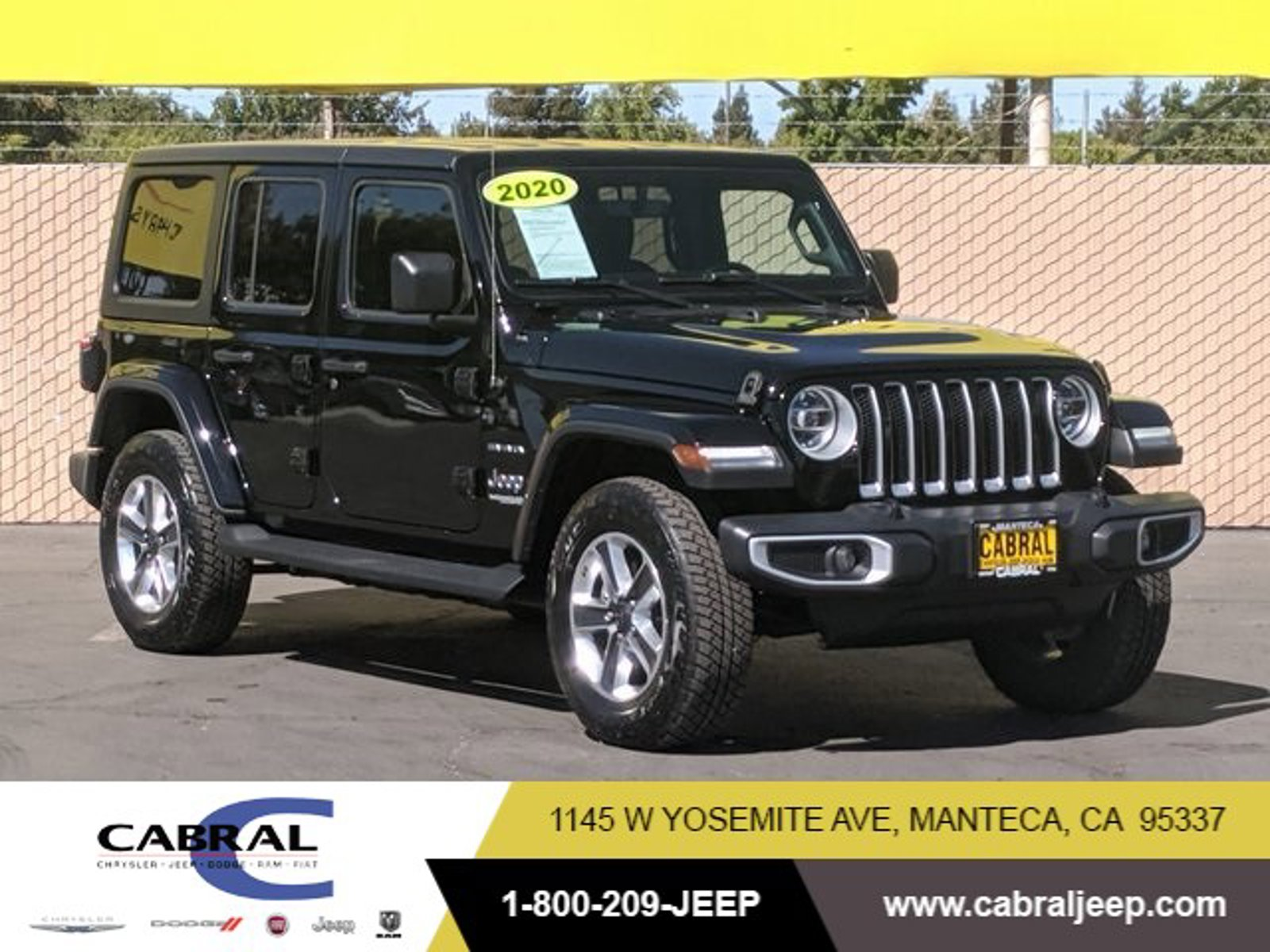 2020 Jeep Wrangler Unlimited Sahara Sahara 4x4 Intercooled Turbo Gas/Electric I-4 2.0 L/122 [0]