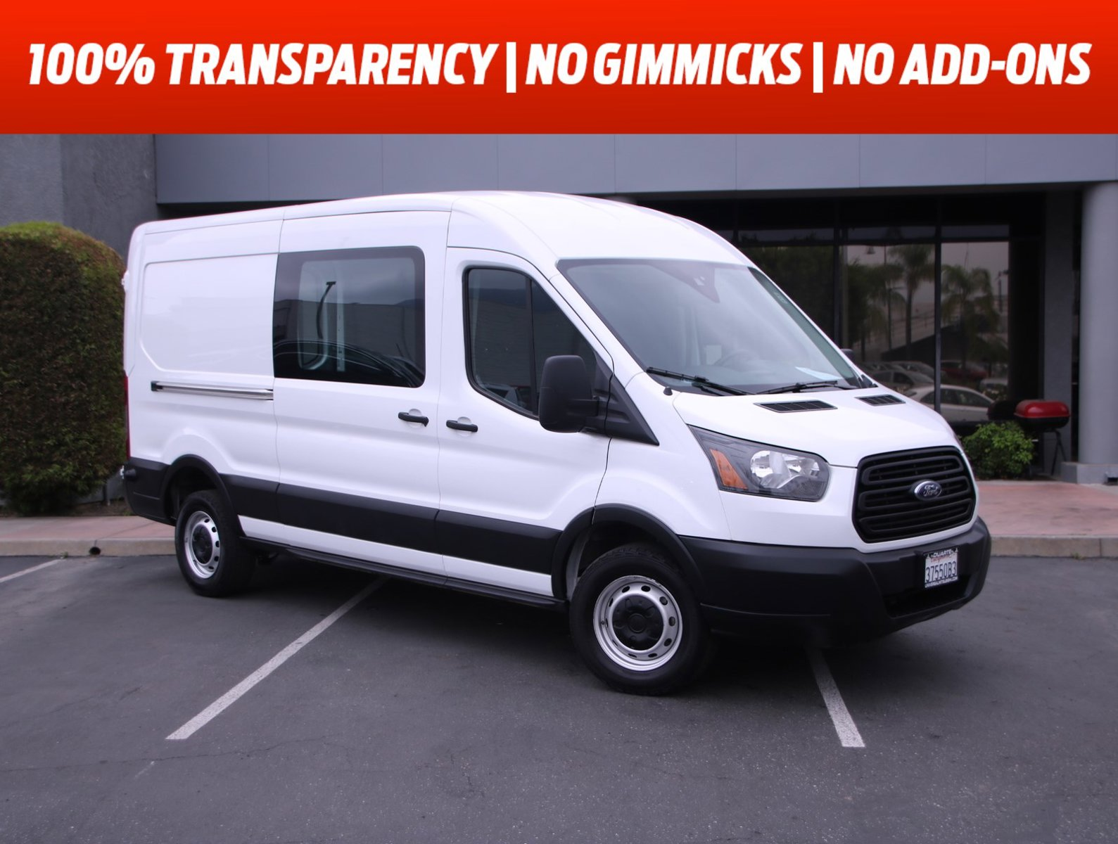 "2019 Ford Transit Van T-250 148"" Med Rf 9000 GVWR Sliding RH Dr Regular Unleaded V-6 3.7 L/228 [5]"