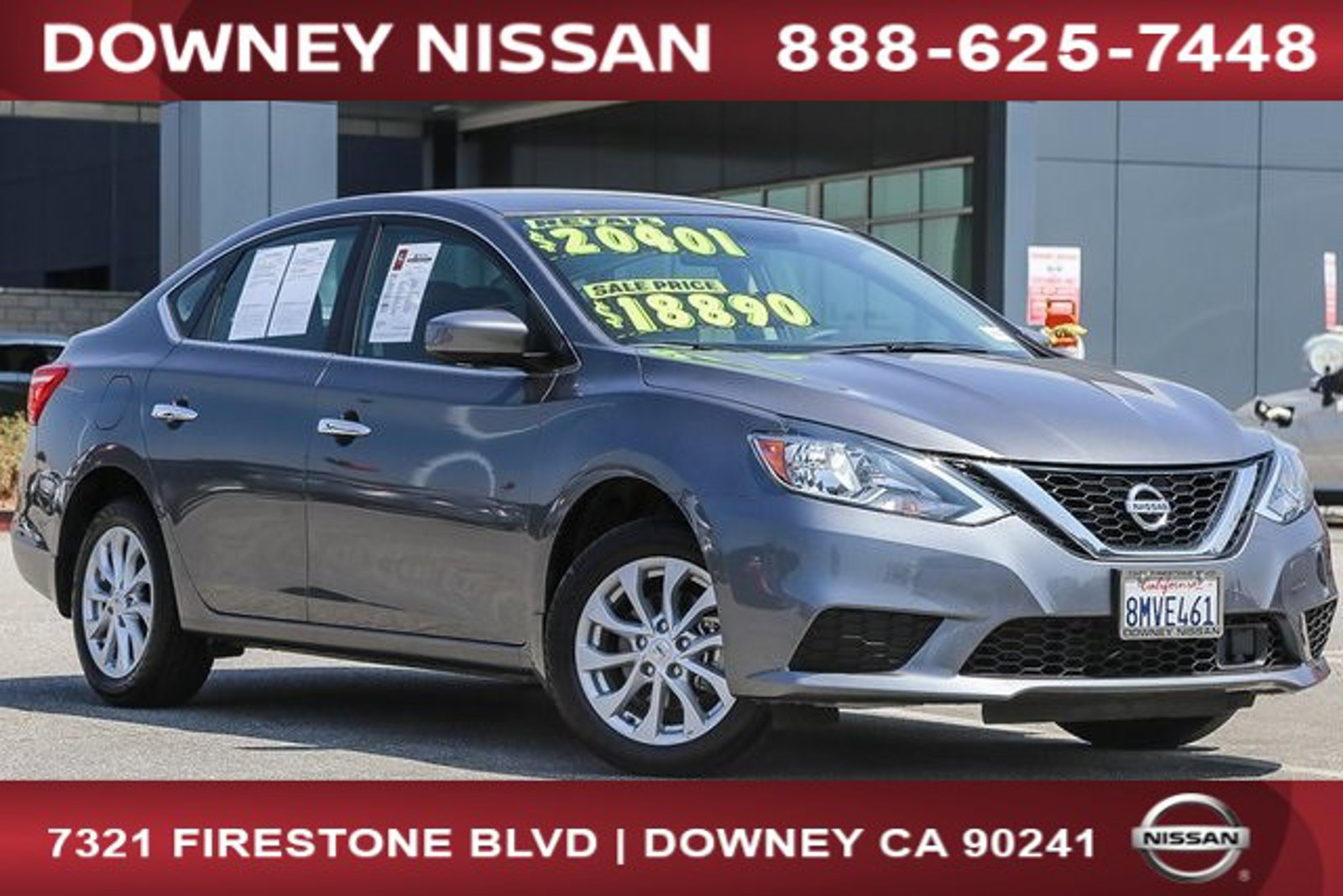 2019 Nissan Sentra SV SV CVT Regular Unleaded I-4 1.8 L/110 [11]