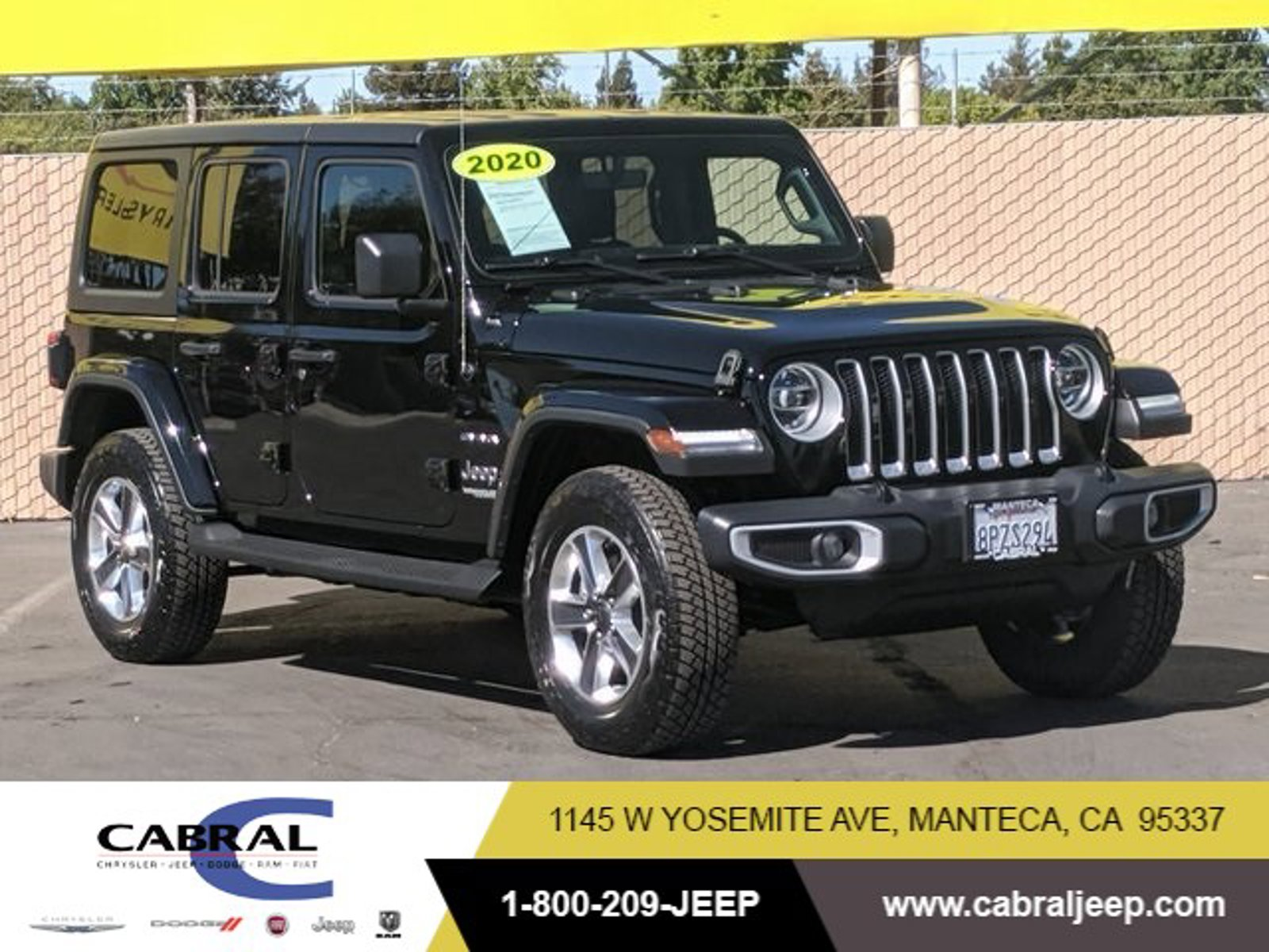 2020 Jeep Wrangler Unlimited Sahara Sahara 4x4 Intercooled Turbo Gas/Electric I-4 2.0 L/122 [1]