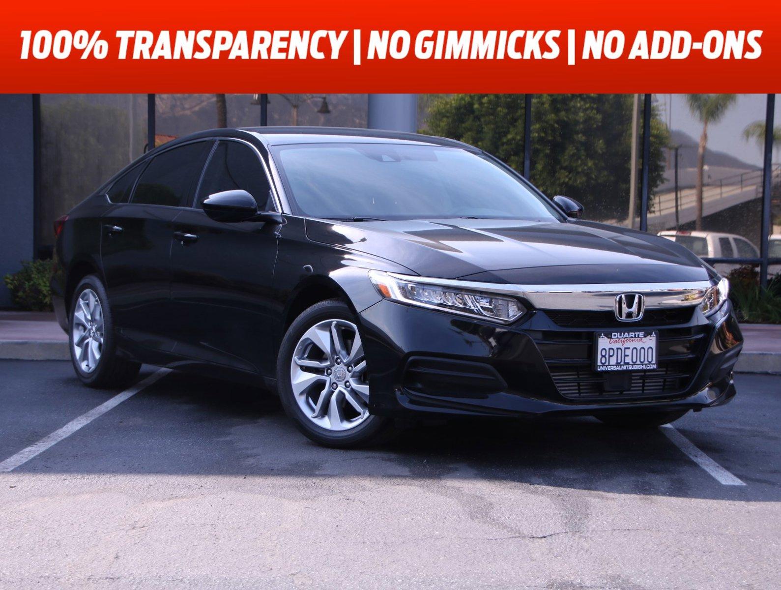 2020 Honda Accord Sedan LX LX 1.5T CVT Intercooled Turbo Regular Unleaded I-4 1.5 L/91 [1]
