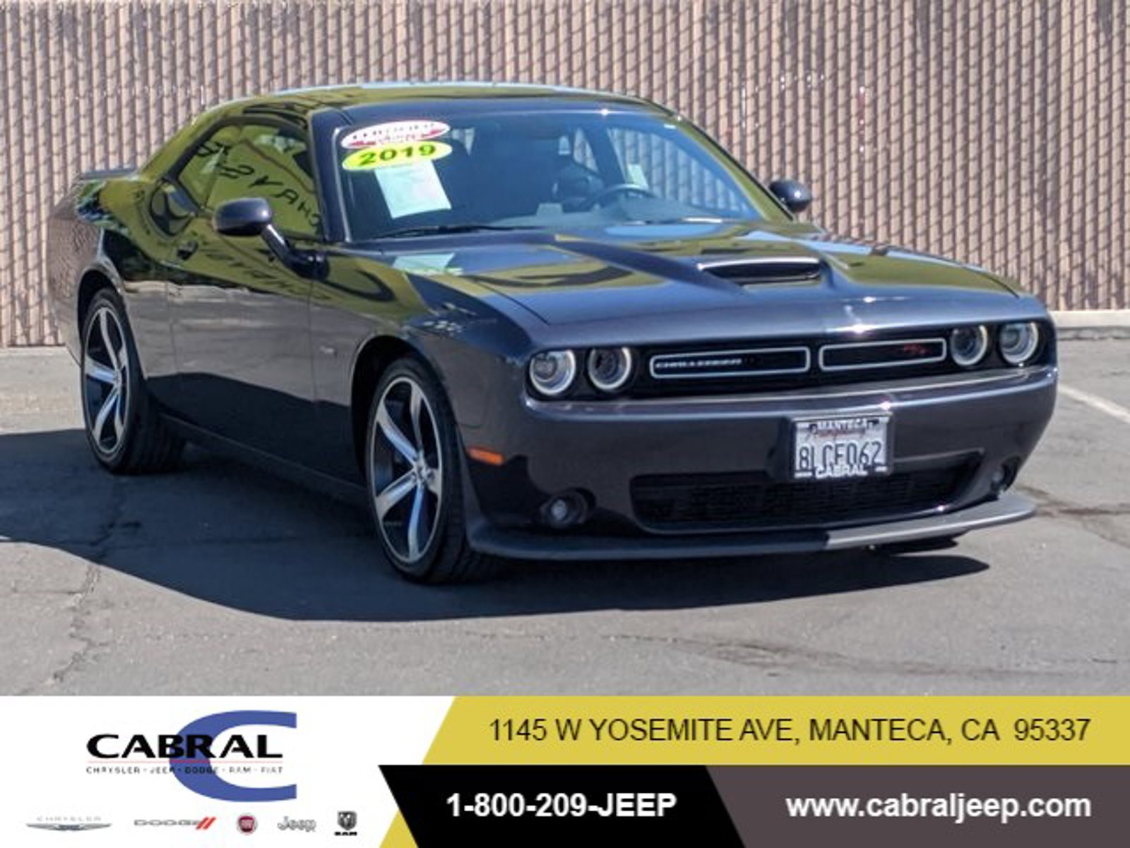 2019 Dodge Challenger R/T R/T RWD Regular Unleaded V-8 5.7 L/345 [6]