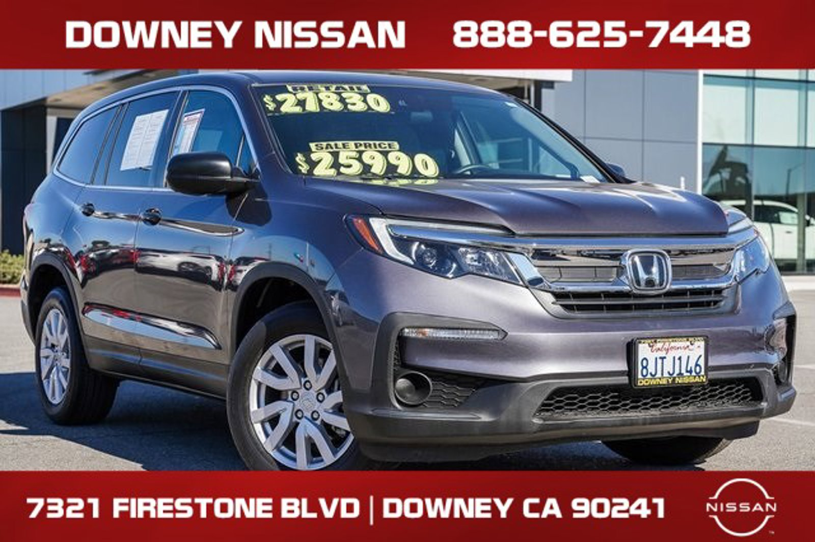 2019 Honda Pilot LX LX 2WD Regular Unleaded V-6 3.5 L/212 [1]