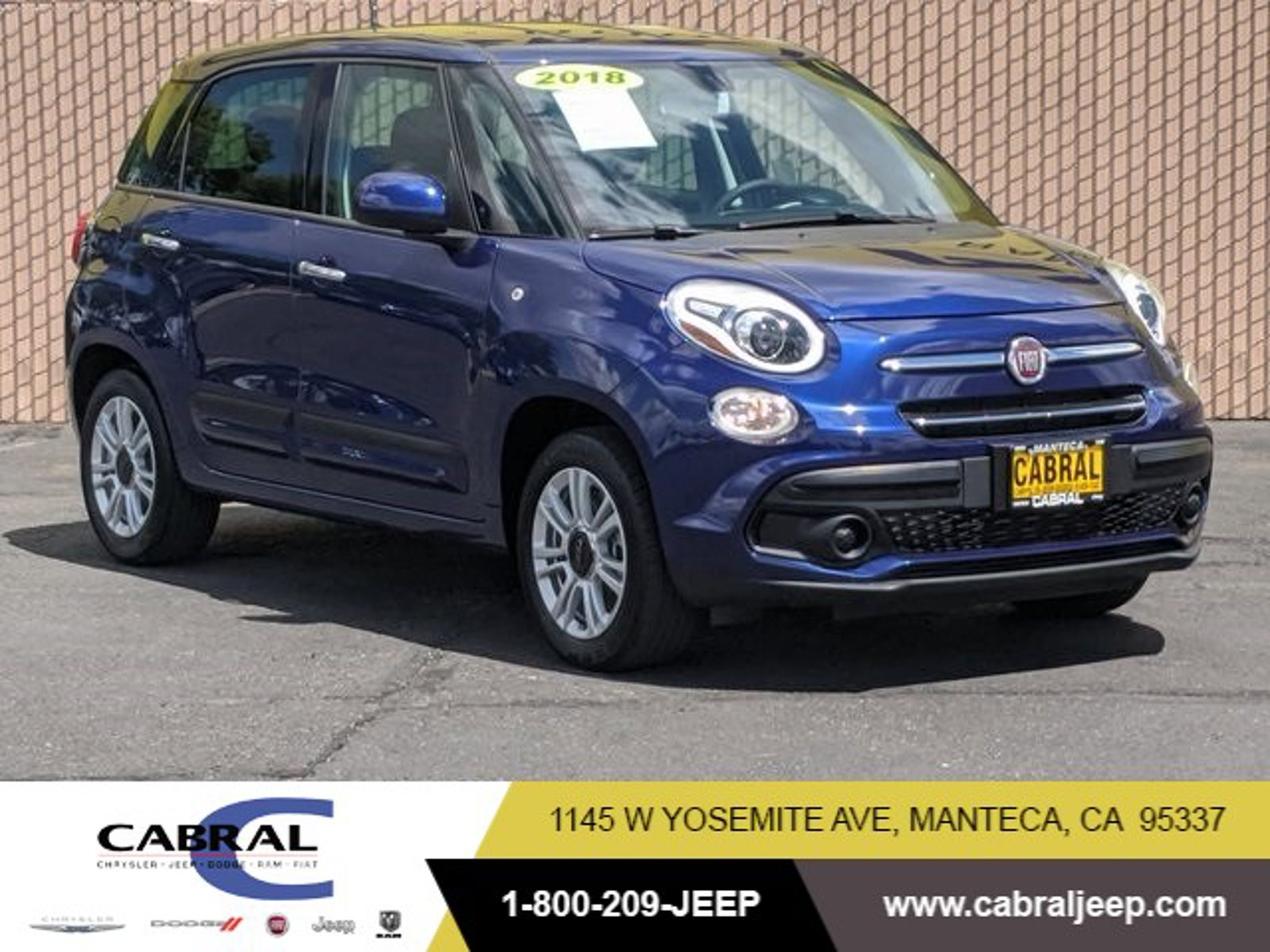 2018 FIAT 500L Pop Pop Hatch Intercooled Turbo Premium Unleaded I-4 1.4 L/83 [6]