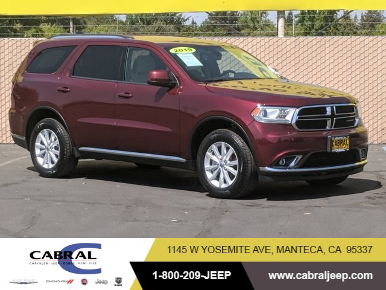 2019 Dodge Durango SXT Plus SXT Plus AWD Regular Unleaded V-6 3.6 L/220 [7]