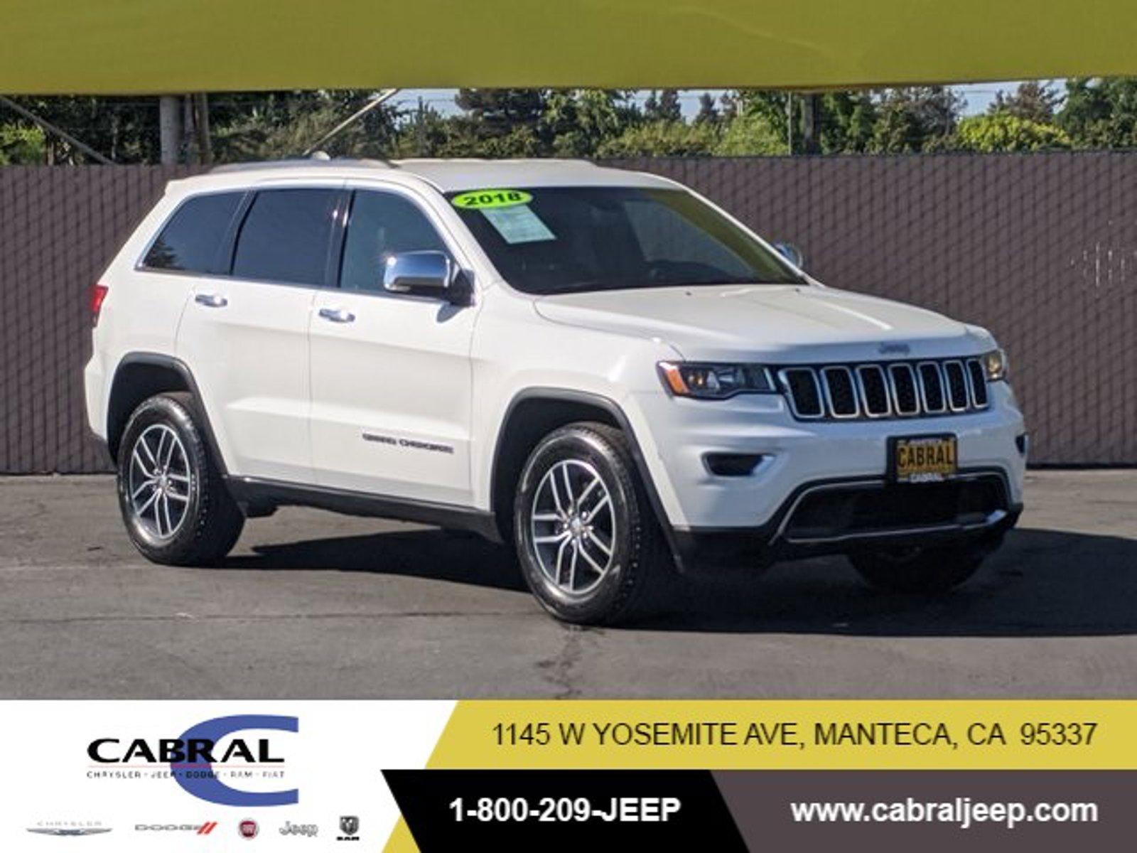 2018 Jeep Grand Cherokee Limited Limited 4x2 Regular Unleaded V-6 3.6 L/220 [0]