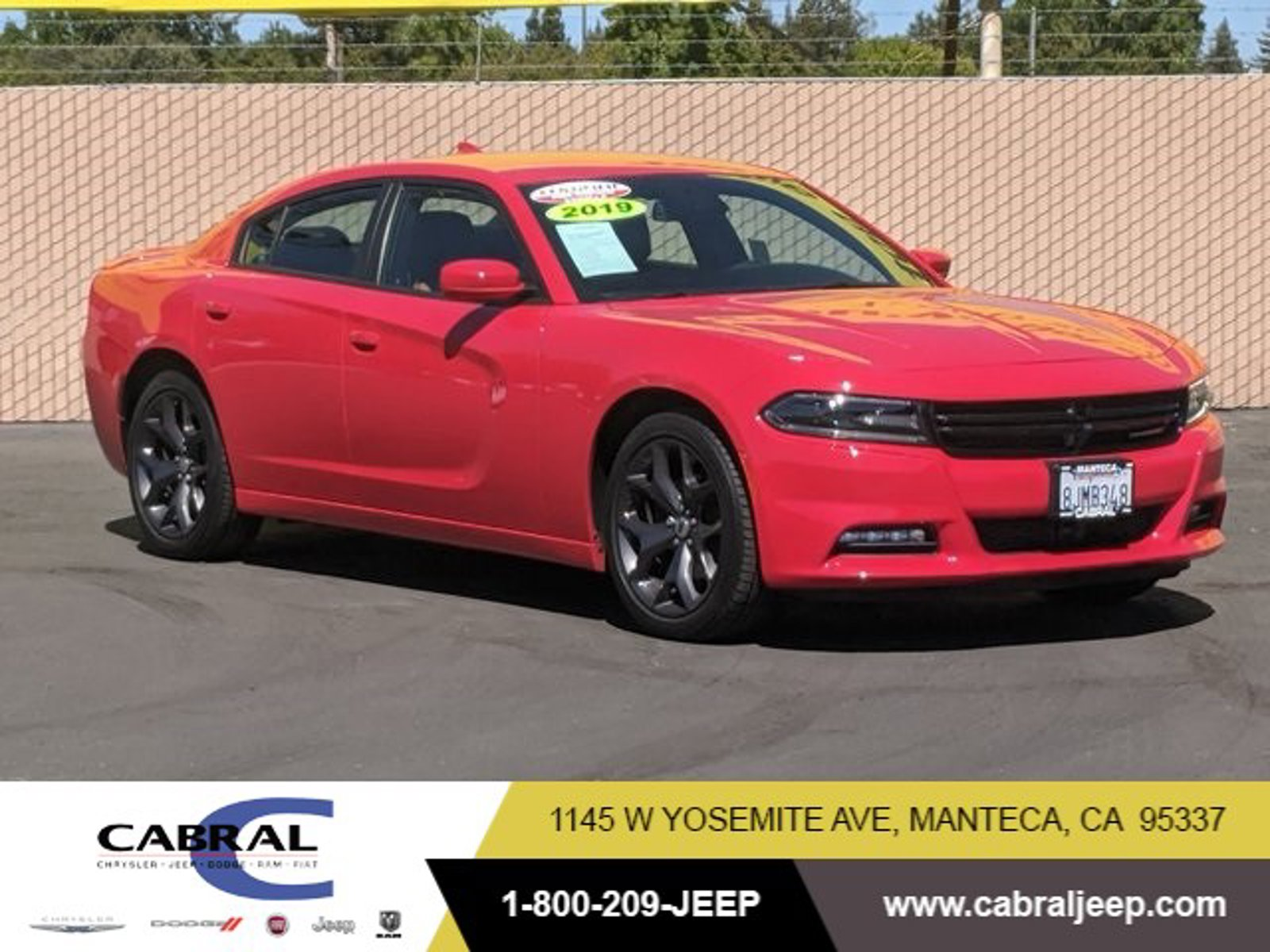 2019 Dodge Charger SXT SXT RWD Regular Unleaded V-6 3.6 L/220 [1]