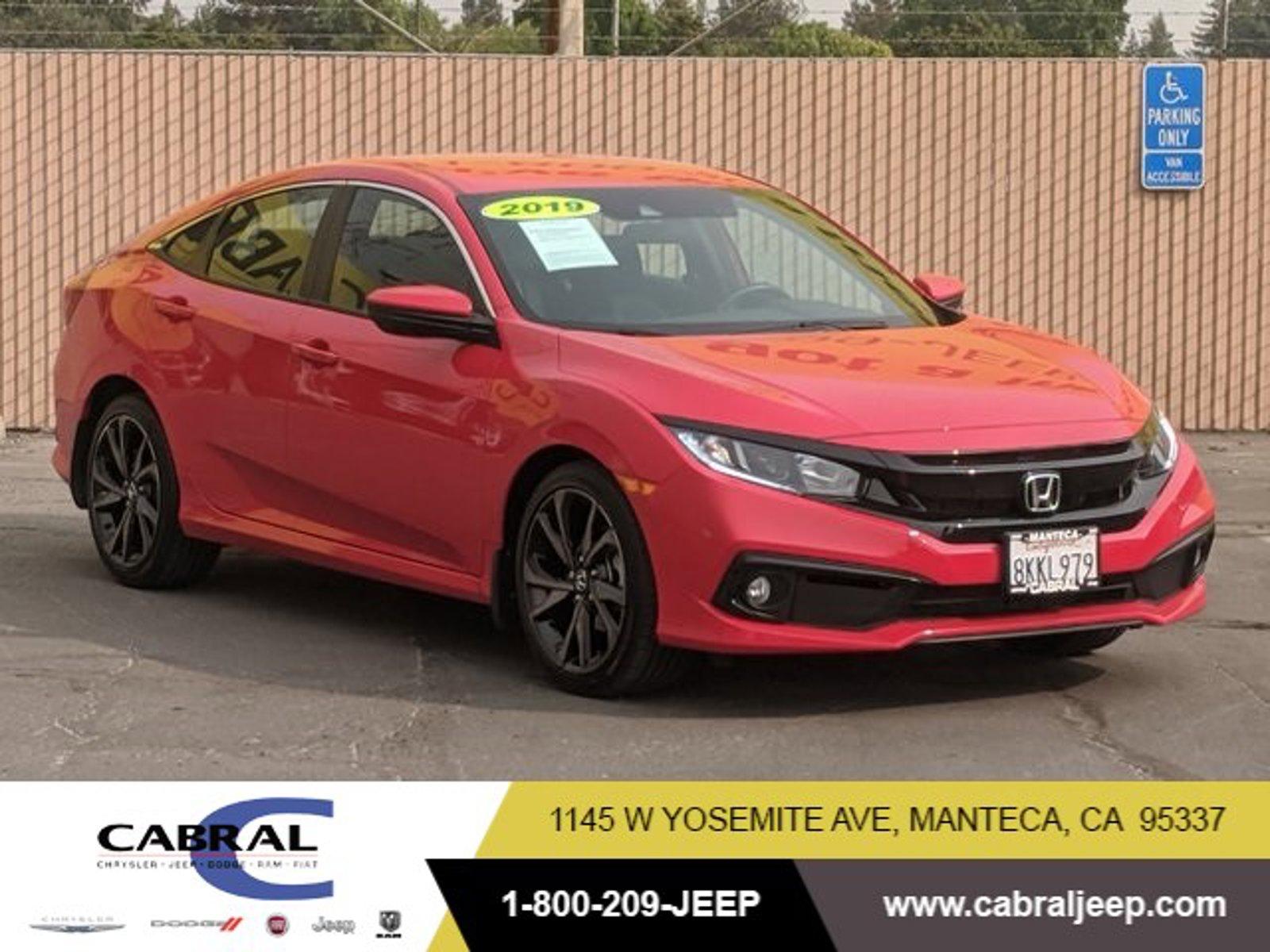 2019 Honda Civic Sedan Sport Sport CVT Regular Unleaded I-4 2.0 L/122 [1]