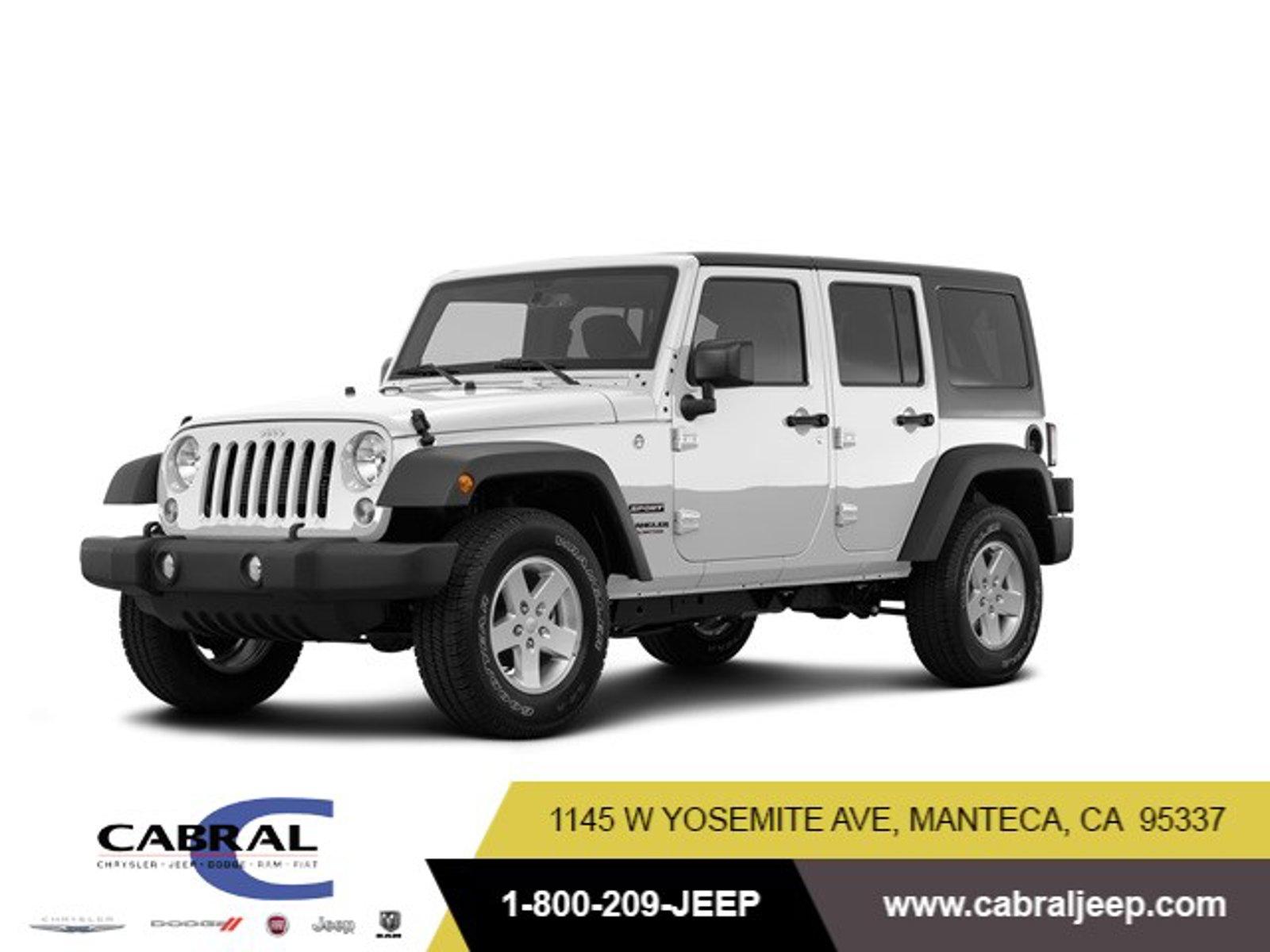 2017 Jeep Wrangler Unlimited Sport Sport 4x4 Regular Unleaded V-6 3.6 L/220 [1]