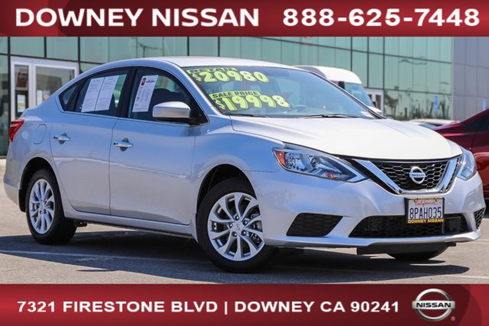2019 Nissan Sentra SV SV CVT Regular Unleaded I-4 1.8 L/110 [24]