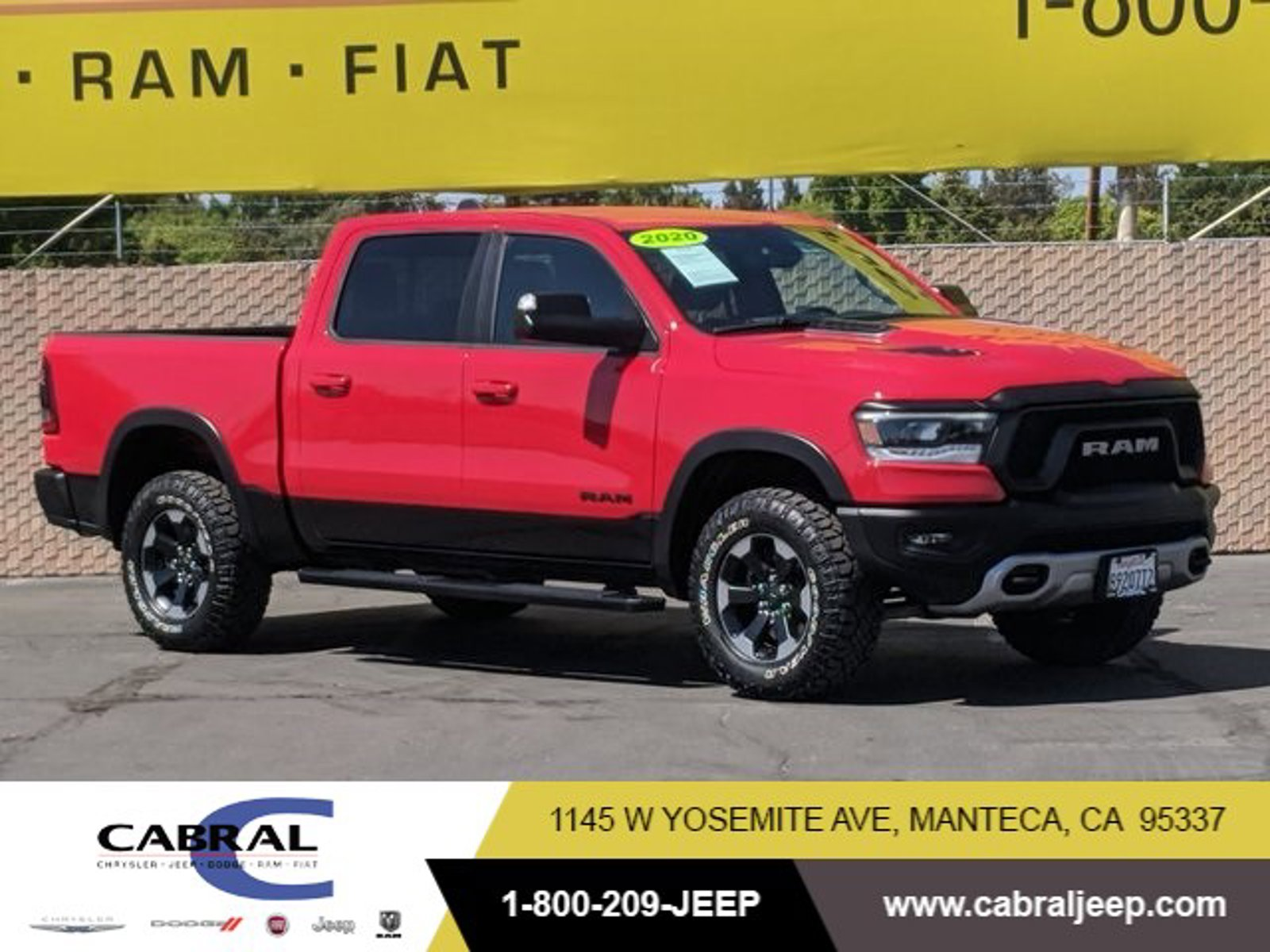 2020 Ram 1500 Rebel Rebel 4x4 Crew Cab 5'7″ Box Regular Unleaded V-8 5.7 L/345 [1]