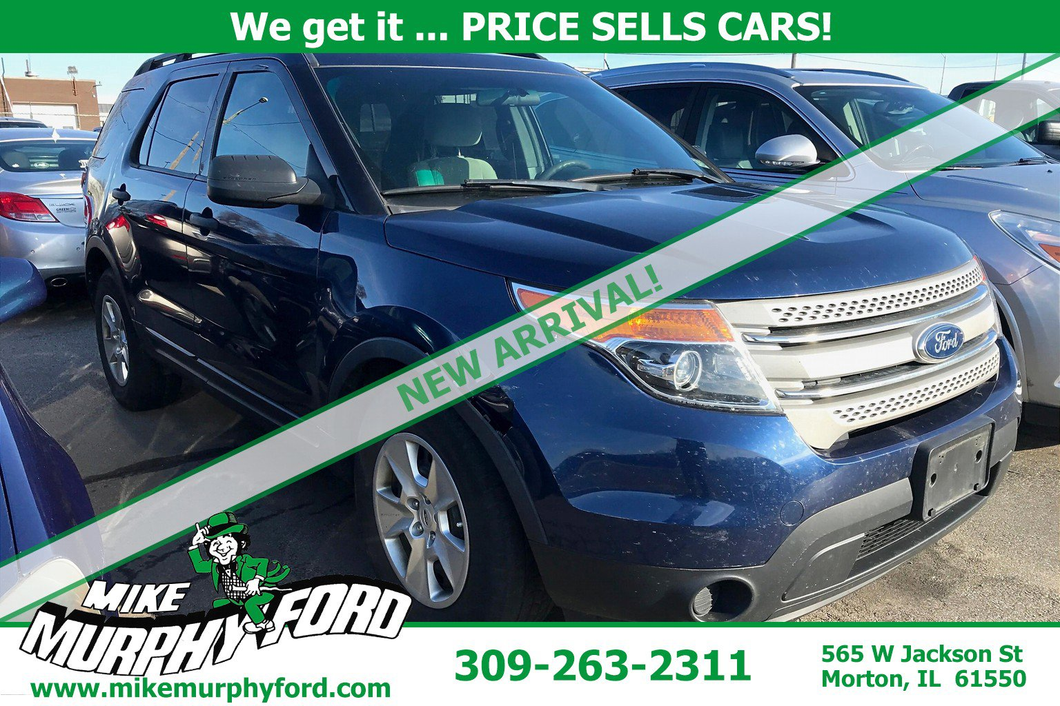 Pre-Owned 2012 Ford Explorer FWD 4dr Base