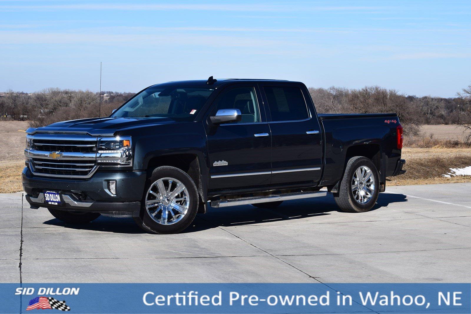 2017 Silverado High Country >> Certified Pre Owned 2017 Chevrolet Silverado 1500 High
