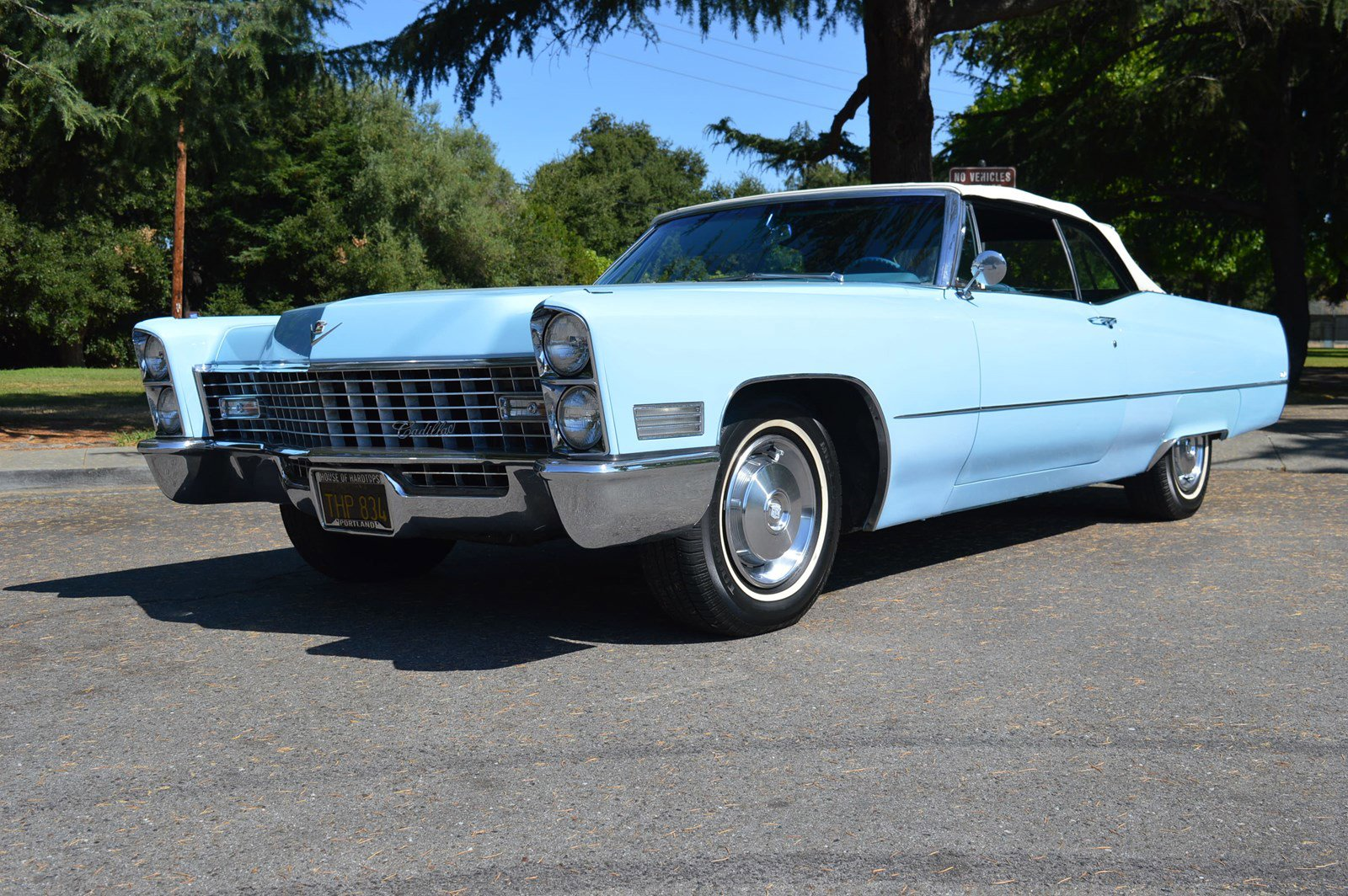 Pre-Owned 1967 Cadillac Deville Convertible Venetian Blue