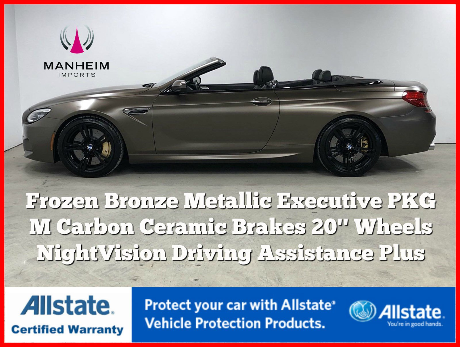 Pre-Owned 2016 BMW M6 Convertible